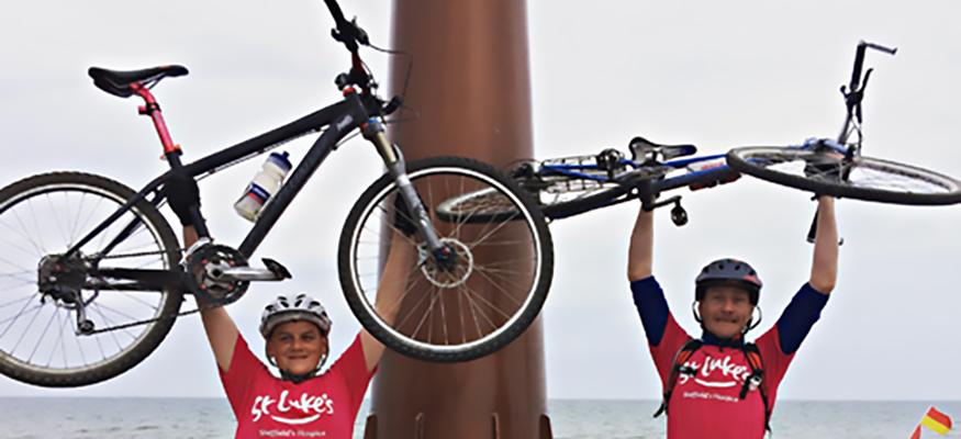 Dan and Jude cycle challenge